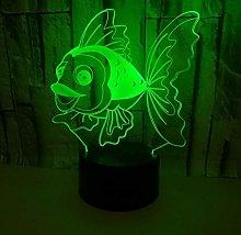 Only 1 Piece 3D Led Night Desk Lamp Bedside