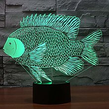 Only 1 Piece 3D Led Night Lamp Paper Cut Fish Tion