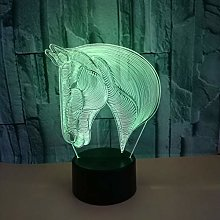Only 1 Piece 3D Night Table Lamps USB Powered Led