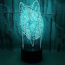 Only 1 Piece 3D Nightlight Animal 3D e Desk Lamp