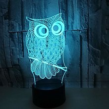 Only 1 Piece 3D Nightlight Remote Control Colorful