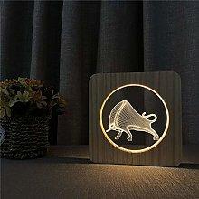 Only 1 Piece 3D USB LED Acrylic Night Light Table