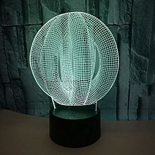 Only 1 Piece Abstract 3D Night Table Lamps Seven