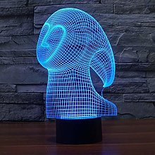 Only 1 Piece Abstract Creativity 3D Desk Lamp Led
