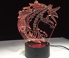 Only 1 Piece Beautiful Horse 3D Lamp Bedroom Decor