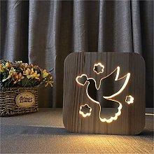 Only 1 Piece Bird Dove Decoration Night Light