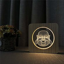 Only 1 Piece Buddha Maitreya 3D LED Arylic Night
