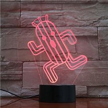 Only 1 Piece Cactus 3D Led Lamp n Led Nightlight