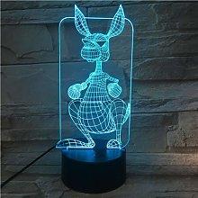 Only 1 Piece Cartoon Animal Kangaroo 3D Light