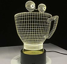 Only 1 Piece Cartoon Cup 3D Lamp Visual Decor