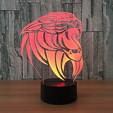 Only 1 Piece Cartoon Lion 3D Lamp Led Night Lamp