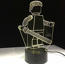 Only 1 Piece Cartoon Robot 3D LED Table Lamp for