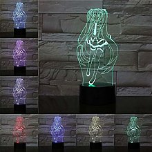 Only 1 Piece Cartoon USB 3D Lamp Color Changing n