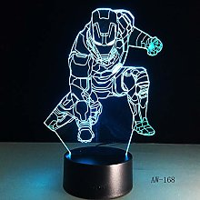 Only 1 Piece Changing LED 3D Night Lamp lampada