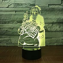 Only 1 Piece Changing Santa Claus 3D Lamp