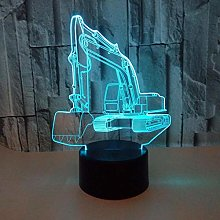 Only 1 Piece Creative 3D Visual Excavator Led