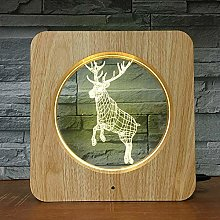Only 1 Piece Deer Jumping Animal Style 3D LED