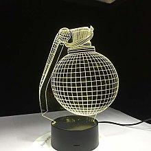 Only 1 Piece Design 3D LED Lamp Desk Gift for