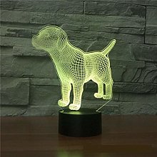 Only 1 Piece Dog 3D Light Colorful Touch Charging
