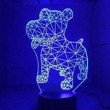 Only 1 Piece Dog 3D Night Lamp LED Table Lamp USB