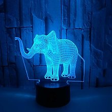 Only 1 Piece Elephant 3D Lamp Colorful Touch Gift