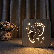 Only 1 Piece Footprint Shape Small Night Light