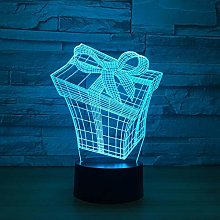 Only 1 Piece Gift Box 3D Lamp Color Led Night