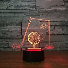 Only 1 Piece Golf Clubs 3D Visual Table Lamp