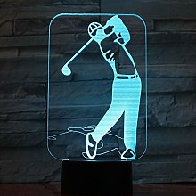 Only 1 Piece Golf Player Lights 3D LED Lamp