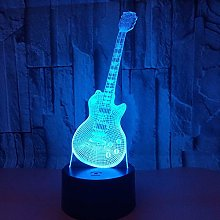 Only 1 Piece Guitar 3D Led Night Lamp 7 Color