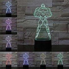 Only 1 Piece Jilian 3D LED Lamp Desk Light Cartoon