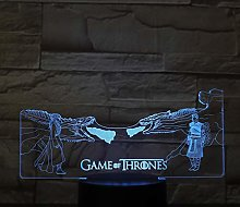 Only 1 Piece Led Night Lamp for n Dragon fire