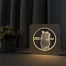 Only 1 Piece Little Cute Bear 3D Night Light