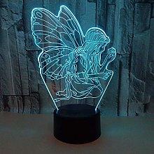 Only 1 Piece New Angel 3D Nightlight Remote