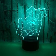 Only 1 Piece New Dog 3D Lamp Colorful Christmas