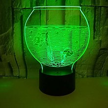 Only 1 Piece New Fishbowl 7 Color 3D Small Table