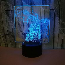 Only 1 Piece New Guitar 3D Table Lamp USB Desk