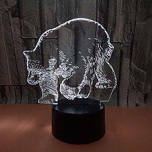 Only 1 Piece New Polar Bear Led 3D Lamp Creative