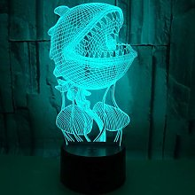 Only 1 Piece Pearl Shell 3D Desk Lamp 7 Colors