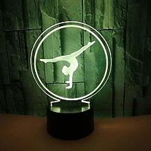 Only 1 Piece Popular Ballet 3D Desk lamp 7 Color