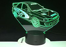Only 1 Piece Racing Car 3D Lamp Multicolor with