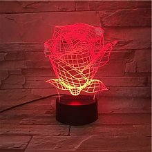 Only 1 Piece Rose Led Night Light USB Touch Sensor