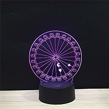 Only 1 Piece Round Ferris Wheel Moon Heart LED 3D