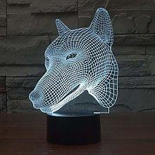 Only 1 Piece Seven Color Led tive 3D Lamp Desktop