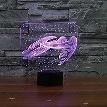 Only 1 Piece Spacecraft Modeling Creative Led Lamp