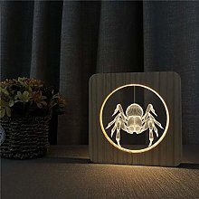 Only 1 Piece Spider 3D LED Arylic Night Lamp Table