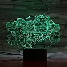 Only 1 Piece Tank 3D Illusion Lamp LED 7 Colors