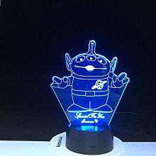 Only 1 Piece Three Eye Monster 3D Lamp Cartoon