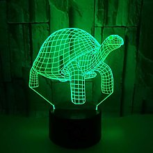 Only 1 Piece Tortoise 3D Night Desk LampWithTouch