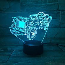Only 1 Piece Tractor 3D Night Light Color Changing